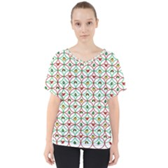 Christmas Decorations Background V Neck Dolman Drape Top