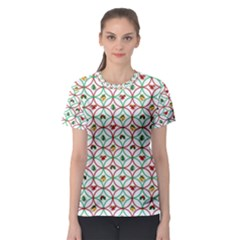 Christmas Decorations Background Women s Sport Mesh Tee