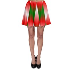 Christmas Geometric Background Skater Skirt