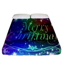 Christmas Greeting Card Frame Fitted Sheet (california King Size)