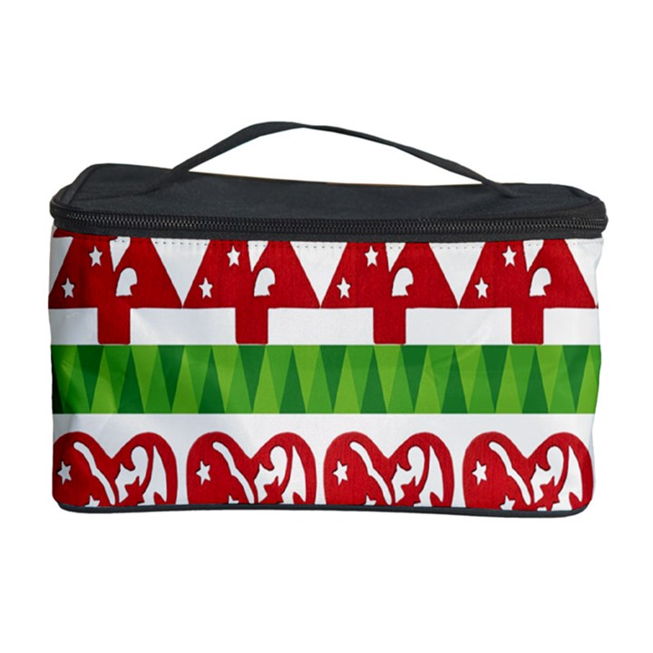 Christmas Icon Set Bands Star Fir Cosmetic Storage Case