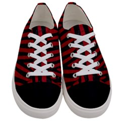 Skin4 Black Marble & Red Leather (r) Women s Low Top Canvas Sneakers