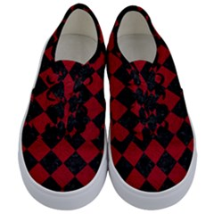 Square2 Black Marble & Red Leather Kids  Classic Low Top Sneakers