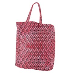 Hexagon1 Black Marble & Red Watercolor Giant Grocery Zipper Tote