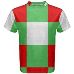 Fabric Christmas Colors Bright Men s Cotton Tee
