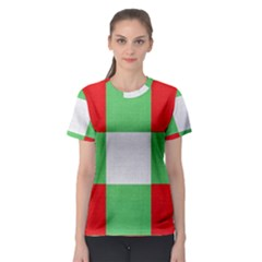 Fabric Christmas Colors Bright Women s Sport Mesh Tee