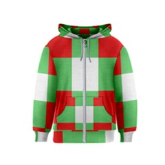 Fabric Christmas Colors Bright Kids  Zipper Hoodie
