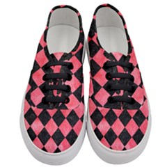 Square2 Black Marble & Red Watercolor Women s Classic Low Top Sneakers