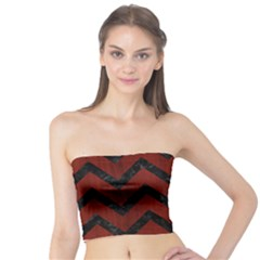 Chevron9 Black Marble & Red Wood Tube Top