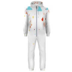 Music Cloud Heart Love Valentine Star Polka Dots Rainbow Mask Sky Hooded Jumpsuit (men)