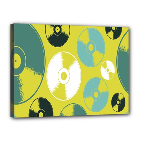Streaming Forces Music Disc Canvas 16  X 12