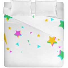 Star Triangle Space Rainbow Duvet Cover Double Side (king Size)