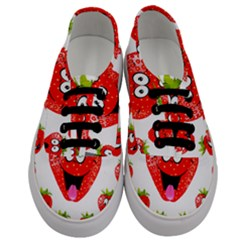 Strawberry Fruit Emoji Face Smile Fres Red Cute Men s Classic Low Top Sneakers