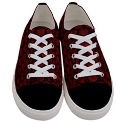 Scales3 Black Marble & Red Wood Women s Low Top Canvas Sneakers