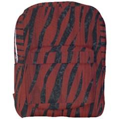 Skin3 Black Marble & Red Wood Full Print Backpack