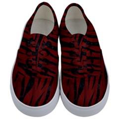 Skin3 Black Marble & Red Wood Kids  Classic Low Top Sneakers