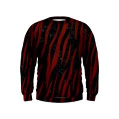 Skin3 Black Marble & Red Wood (r) Kids  Sweatshirt