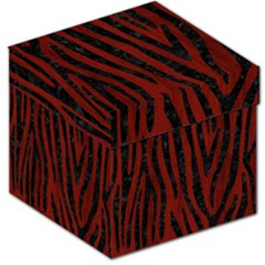 Skin4 Black Marble & Red Wood (r) Storage Stool 12