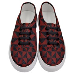 Triangle1 Black Marble & Red Wood Women s Classic Low Top Sneakers