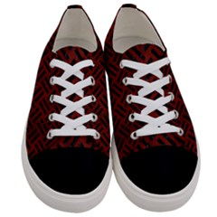 Woven2 Black Marble & Red Wood Women s Low Top Canvas Sneakers