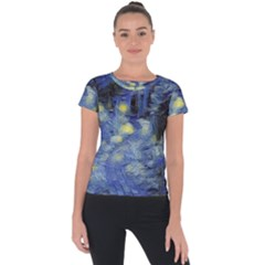 Van Gogh Inspired Short Sleeve Sports Top