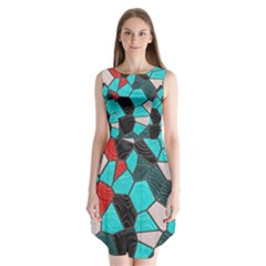 Mosaic Linda 4 Sleeveless Chiffon Dress