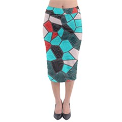 Mosaic Linda 4 Midi Pencil Skirt