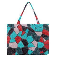 Mosaic Linda 4 Zipper Medium Tote Bag