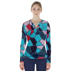 Mosaic Linda 4 V Neck Long Sleeve Top