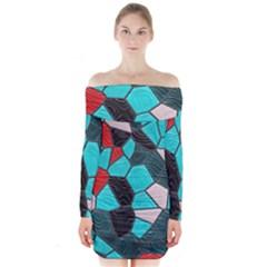 Mosaic Linda 4 Long Sleeve Off Shoulder Dress