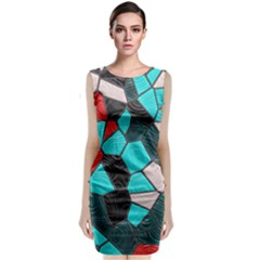 Mosaic Linda 4 Sleeveless Velvet Midi Dress