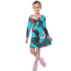 Mosaic Linda 4 Kids  Long Sleeve Velvet Dress