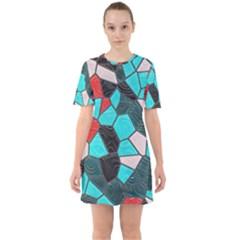 Mosaic Linda 4 Sixties Short Sleeve Mini Dress
