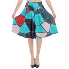 Mosaic Linda 4 Flared Midi Skirt