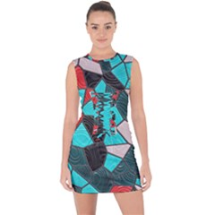 Mosaic Linda 4 Lace Up Front Bodycon Dress