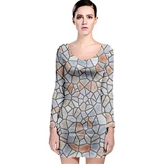 Mosaic Linda 6 Long Sleeve Bodycon Dress