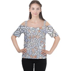 Mosaic Linda 6 Cutout Shoulder Tee