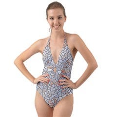 Mosaic Linda 6 Halter Cut Out One Piece Swimsuit