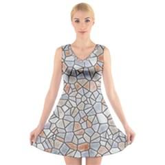 Mosaic Linda 6 V Neck Sleeveless Skater Dress