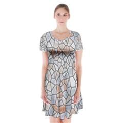 Mosaic Linda 6 Short Sleeve V Neck Flare Dress