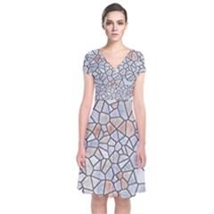 Mosaic Linda 6 Short Sleeve Front Wrap Dress