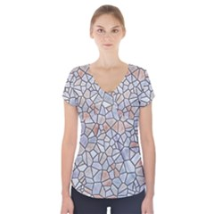 Mosaic Linda 6 Short Sleeve Front Detail Top