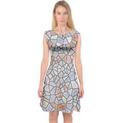Mosaic Linda 6 Capsleeve Midi Dress