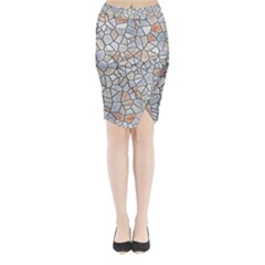 Mosaic Linda 6 Midi Wrap Pencil Skirt