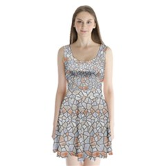 Mosaic Linda 6 Split Back Mini Dress