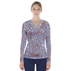 Mosaic Linda 6 V Neck Long Sleeve Top