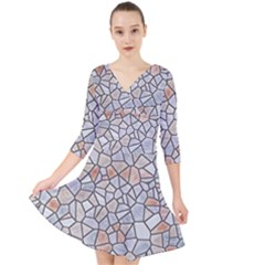 Mosaic Linda 6 Quarter Sleeve Front Wrap Dress