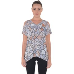 Mosaic Linda 6 Cut Out Side Drop Tee