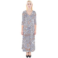 Mosaic Linda 6 Quarter Sleeve Wrap Maxi Dress