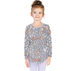 Mosaic Linda 6 Kids  Long Sleeve Tee